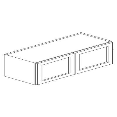 Cabinets, Forevermark Rio Vista White Shaker Forevermark Ice White Shaker Wall Cabinet 36W X 18H 24D