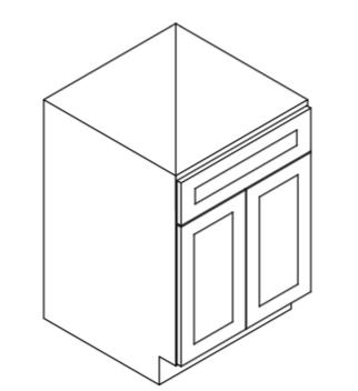 Cabinets, Forevermark Greystone Shaker, Forevermark Greystone Shaker sink-base-S2421BS3021B-S3621B-