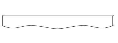 Cabinets, Forevermark Rio Vista White Shaker Forevermark Ice White Shaker Valance 48W X 4-5/8H