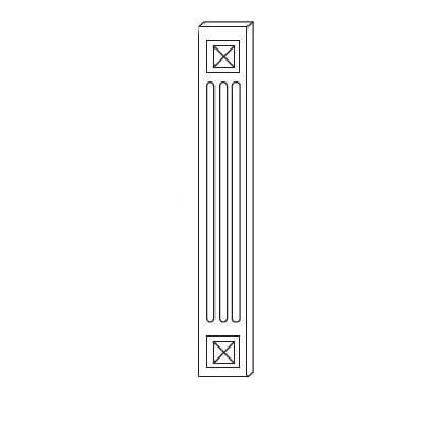Cabinets, Forevermark Rio Vista White Shaker Forevermark Ice White Shaker Decorative Wall Filler 3W X 36H