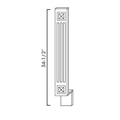 Cabinets, Forevermark Rio Vista White Shaker Forevermark Ice White Shaker Decorative Wall Filler 3W X 34-1/2H