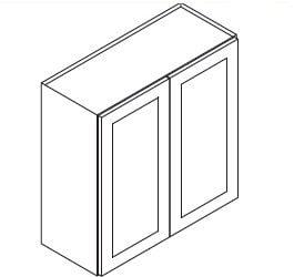 Cabinets, Forevermark Rio Vista White Shaker Forevermark Ice White Shaker Wall Cabinet 24W X 30H
