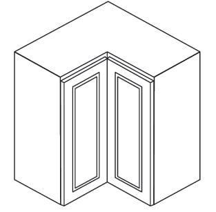 Cabinets, Forevermark Ice White Shaker Forevermark Ice White Shaker Wall Corner Cabinet 24W X 36H