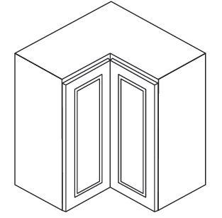 Cabinets, Forevermark Lait Grey Shaker Forevermark Greystone Shaker Wall Corner Cabinet 24W X 30H