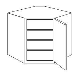 Cabinets, Forevermark Lait Grey Shaker Forevermark Greystone Shaker Wall Diagonal Corner Cabinet 24W X 30H