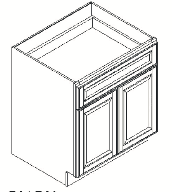 Cabinets, Feather Lodge Newport White Feather Lodge Newport White Base Cabinet 24W X 34-1/2H
