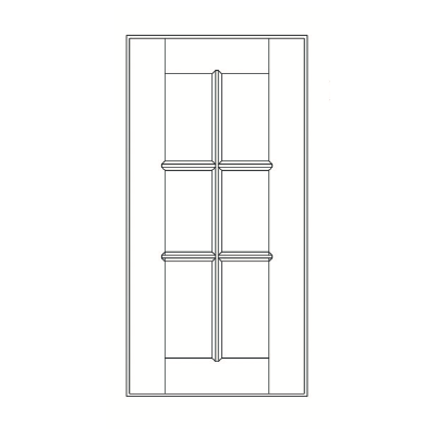 Cabinets, Feather Lodge Newport White Feather Lodge Newport White Mullion Door 24W X 36H