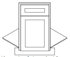 Cabinets, Forevermark Pepper Shaker Sink Front BDCF36K-FL