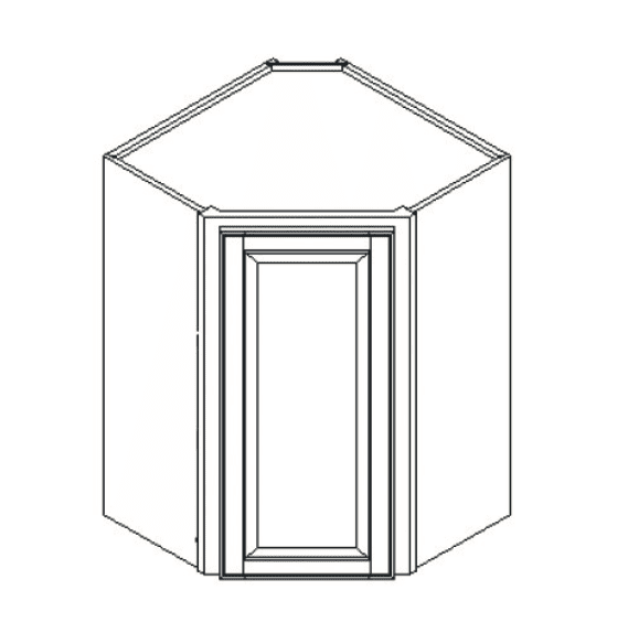 Cabinets, Feather Lodge Newport White Feather Lodge Newport White Wall Diagonal Corner Cabinet 27W X 36H