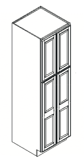 Cabinets, Feather Lodge Newport White Feather Lodge Newport White Wall Pantry Cabinet 24W X 90H