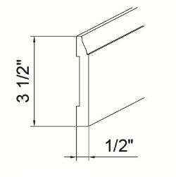 Cabinets, GHI Nantucket Linen molding-FBM8-