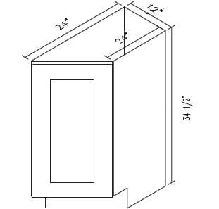Cabinets, Forevermark Rio Vista White Shaker base-transitional-cabinet-btc12r-