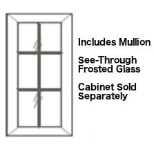 Cabinets, Forevermark Cherry Glaze mullion-linen-glass