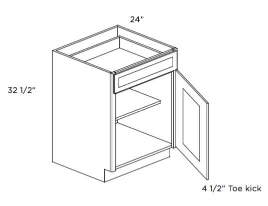Cabinets, Cubitac Oxford Pastel ADA-Base-Cabinet-B12-ADA-B15-ADA-B18-ADA-