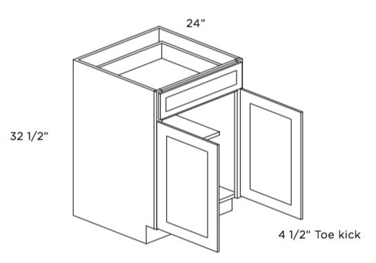 Cabinets, Cubitac Oxford Latte ADA-Base-Cabinet-B24-ADA-B27-ADA