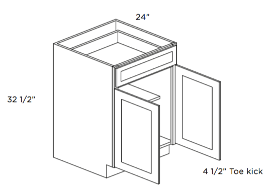 Cabinets, Cubitac Ridgefield Latte ADA-Base-Cabinet-B24-ADA-B27-ADA