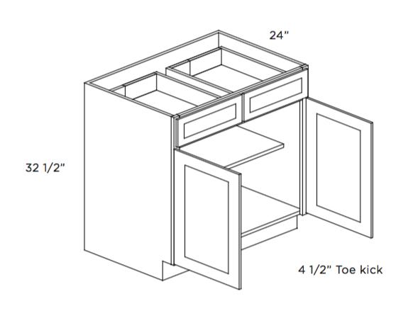 Cabinets, Cubitac Ridgefield Latte ADA-Base-Cabinet-B30-ADA-B36-ADA-