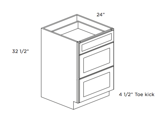 Cabinets, Cubitac Oxford Latte ADA-Drawer-Base-DB15-ADA-DB24-ADA-1