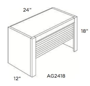 Cabinets, Cubitac Oxford Latte Appliance-Garage-AG2418-