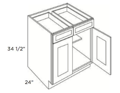 Cabinets, Cubitac Oxford Pastel Base-Cabinet-B24-B27-B30-B33-B36