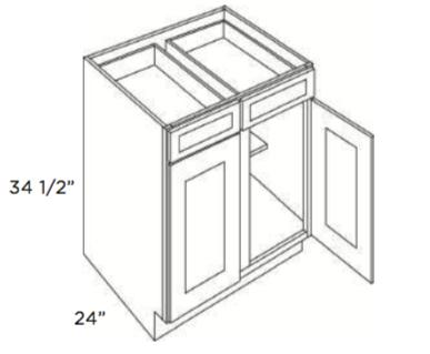 Cabinets, Forevermark Lait Grey Shaker Base-Cabinet-B39-B42-