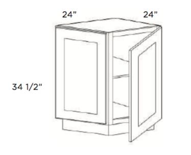 Cabinets, Cubitac Oxford Latte Base-End-Cabinet-BEC24
