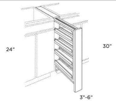 Cabinets, Cubitac Oxford Latte Base-Spice-Rack-BSP3-BSP6