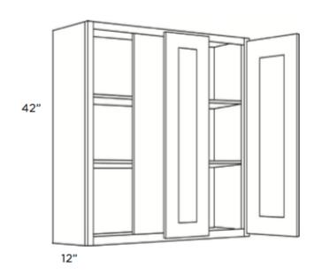 Cabinets, Cubitac Belmont Cafe Glaze Blind-Wall-Cabinet-42-BLW39_4242-1