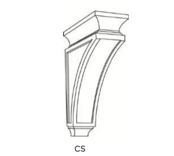 Cabinets, Cubitac Oxford Latte Corbel-CS7-CS10