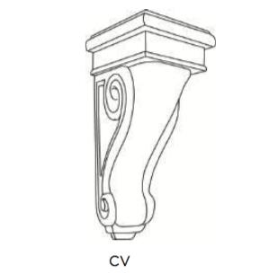 Cabinets, Cubitac Oxford Latte Corbel-CV7-CV10-