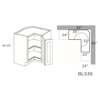 Cabinets, Cubitac Oxford Latte Cubitac-Basic-Series-Lazy-Susan-Base-BLS36-