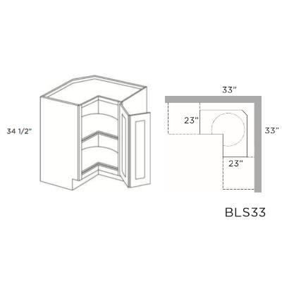 Cabinets, Cubitac Dover Cafe Cubitac-Prestige-Imperial-Series-Lazy-Susan-Base-BLS33-