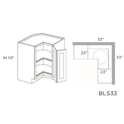 Cabinets, Cubitac Oxford Pastel Cubitac-Prestige-Imperial-Series-Lazy-Susan-Base-BLS33-