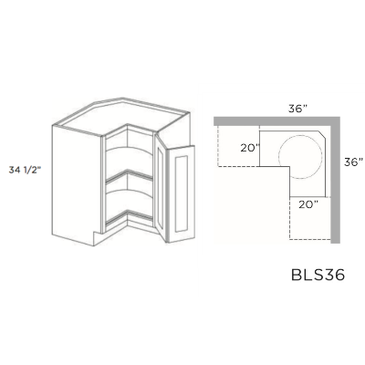 Cabinets, Cubitac Dover Cafe Cubitac-Prestige-Imperial-Series-Lazy-Susan-Base-BLS36-