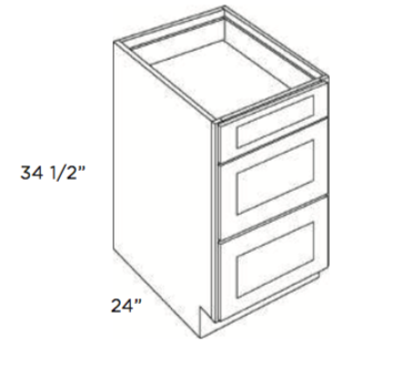 Cabinets, Cubitac Oxford Pastel Drawer-Base-DB12-DB15-DB18-DB24-DB30-DB33-DB36