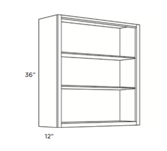 Cabinets, Cubitac Belmont Cafe Glaze Finished-Interior-WFI2436-WFI3036-WFI3636