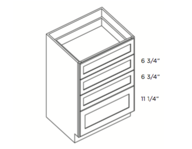 Cabinets, Cubitac Newport Cafe Four-Drawer-Base-DB15-4-DB18-4-DB21-4-DB30-4