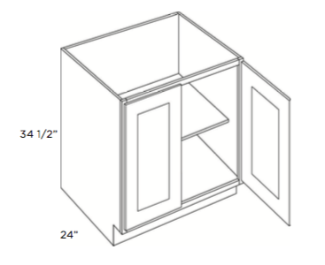 Cabinets, Cubitac Belmont Cafe Glaze Full-Height-Base-B24FH-B27FH-B30FH-B33FH-B36FH