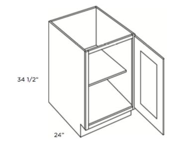 Cabinets, Cubitac Belmont Cafe Glaze Full-Height-Base-B9FH-B12FH-B15FH-B18FH-B21FH