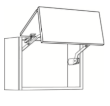Cabinets, Cubitac Bergen Latte Large-Horizontal-Cabinet-30124HD-2-3624HD-2
