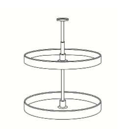 Cabinets, Cubitac Milan Latte Lazy-Susan-PLASTIC-LS30-PLASTIC-LS3642-WOOD-LS30-WOOD-LS3642-PLASTIC-LS36_42-WOOD-LS36_42
