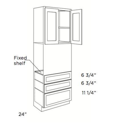 Cabinets, Cubitac Oxford Latte Oven-Cabinet-OV3384-OV3390-OV3396-