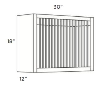 Cabinets, Cubitac Ridgefield Latte Plate-Rack-Cabinet-PR3018