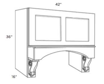 Cabinets, Cubitac Dover Cafe Range-Hood-Cabinet-RHC4236-CV-RHC4236-CS