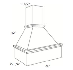 Cabinets, Cubitac Dover Cafe Range-Hood-RH3642