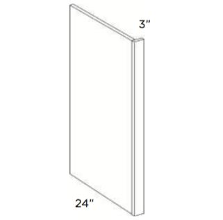 Cabinets, Cubitac Oxford Latte Refrigerator-End-Panel-REP396