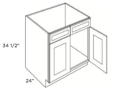 Cabinets, Cubitac Oxford Latte Sink-Base-SB24-SB27-SB30-SB33-SB36