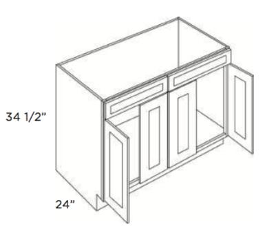 Cabinets, Cubitac Oxford Latte Sink-Base-SB48