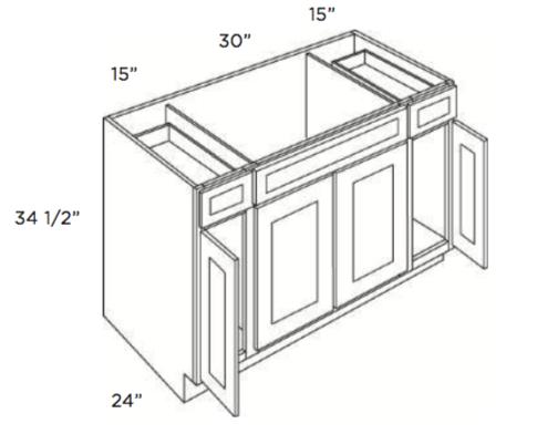 Cabinets, Cubitac Oxford Latte Sink-Base-SB60