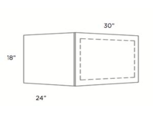 Cabinets, Cubitac Sofia Caramel Solid-Frame-Microwave-Cabinet-MWS3018